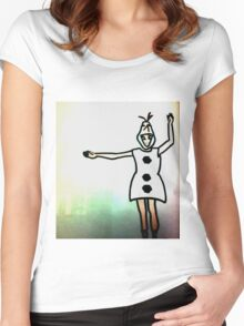 olaf taylor swift Women's Fitted Scoop T-Shirt