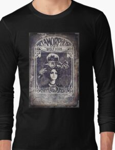 Metamorphosis by The Wolf Man: A Full Service Hair Salon (Old Metal Sign) Long Sleeve T-Shirt