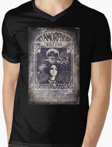 Metamorphosis by The Wolf Man: A Full Service Hair Salon (Old Metal Sign) Mens V-Neck T-Shirt