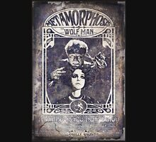 Metamorphosis by The Wolf Man: A Full Service Hair Salon (Old Metal Sign) Unisex T-Shirt