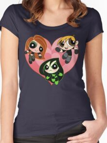 Possible Powerpuffs Women's Fitted Scoop T-Shirt