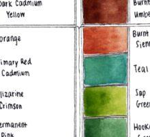 Watercolor palette Sticker
