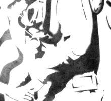 Mermaid and Diver Stencil Sticker