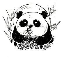 Panda in tall grass by Darthblueknight