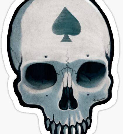 Vampire Skull, Ace of Spades Sticker