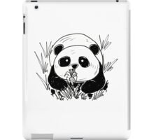 Panda in tall grass iPad Case/Skin