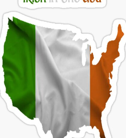 Irish in the USA Sticker