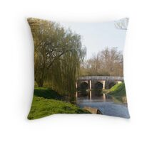 Alconbury Village Green and Brook Throw Pillow