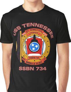 USS Tennessee (SSBN-734) Crest Graphic T-Shirt