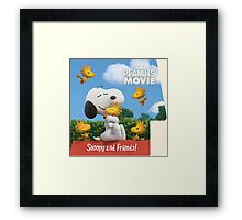 the peanuts movie snoopy and friend Framed Print