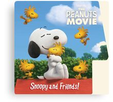 the peanuts movie snoopy and friend Canvas Print