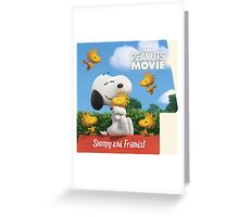 the peanuts movie snoopy and friend Greeting Card