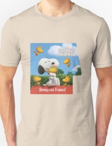 the peanuts movie snoopy and friend Unisex T-Shirt