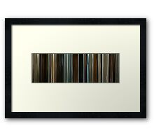 Moviebarcode: The Assassination of Jesse James by the Coward Robert Ford (2007) Framed Print