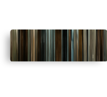 Moviebarcode: The Assassination of Jesse James by the Coward Robert Ford (2007) Canvas Print
