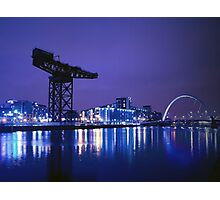 The River Clyde At Night Photographic Print