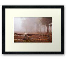 Frankland Fog Framed Print