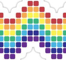 Retro Rainbow - Wave Sticker