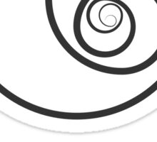 Reverse Golden Ratio Spiral Sticker