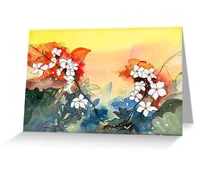 Floral Necklace Greeting Card