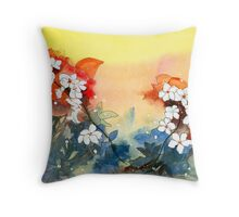 Floral Necklace Throw Pillow