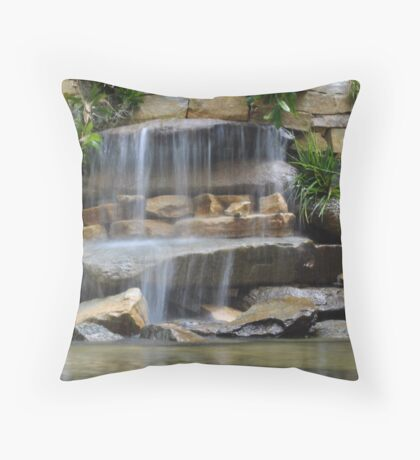 Garden Falls Throw Pillow
