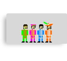 Sgt. Pixel's Lonely Hearts Club Band Canvas Print