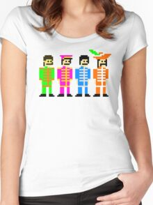 Sgt. Pixel's Lonely Hearts Club Band Women's Fitted Scoop T-Shirt