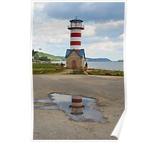 Lighthouse in a Puddle Poster