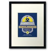 Hammer-Out Homelessness Framed Print