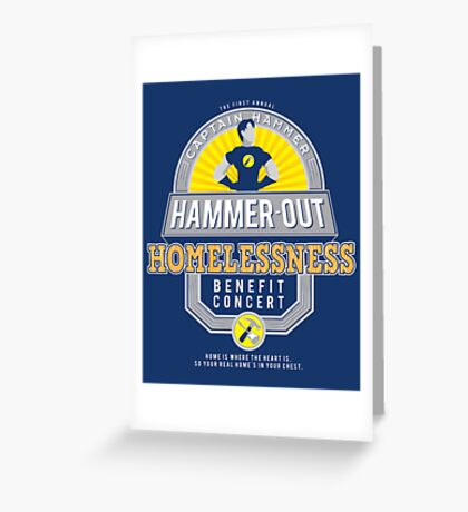 Hammer-Out Homelessness Greeting Card