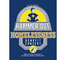 Hammer-Out Homelessness Photographic Print