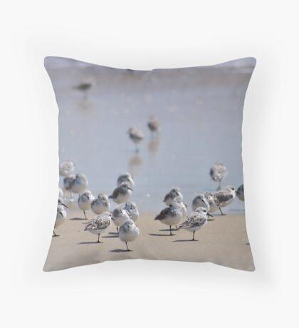 One-legged Shorebirds Throw Pillow