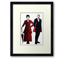 Doctor Who - 12th Doctor and Missy Framed Print