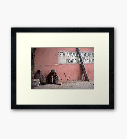 Homeless Pair Framed Print