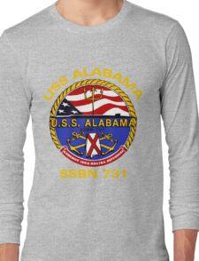 USS Alabama (SSBN-731) Crest for Dark Colors Long Sleeve T-Shirt