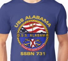USS Alabama (SSBN-731) Crest for Dark Colors Unisex T-Shirt