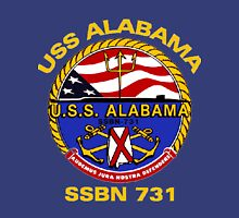 USS Alabama (SSBN-731) Crest for Dark Colors Unisex T-Shirt