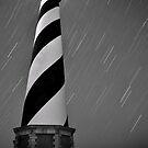 Hatteras Lighthouse (b&w) by Robin Black