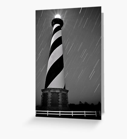 Hatteras Lighthouse (b&w) Greeting Card