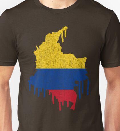 Colombia Paint Drip Unisex T-Shirt