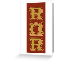 Monsters U: Roar Omega Roar Greeting Card