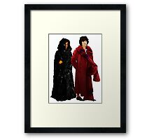 Doctor Who - Fourth Doctor and The Master Framed Print