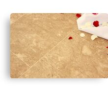 Petals on the TIled Floor Canvas Print