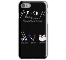Death Parede - What's Your Poison? iPhone Case/Skin