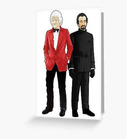 Doctor Who - Third Doctor and The Master Greeting Card