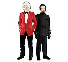 Doctor Who - Third Doctor and The Master Photographic Print