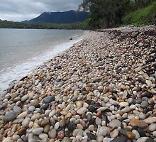 Pebbles on the beach by kelliejane