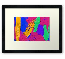Wild Paint Brush Colors and Music Sheets Framed Print