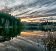 Sunset at Cusheon Lake by Keri Harrish